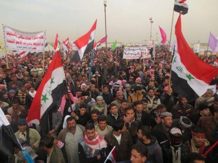 Manifestaciones en al-Anbar, 18 de enero de 2013.